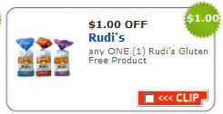 rudis coupon $1/1 Rudis Gluten Free Product | Printable Coupon