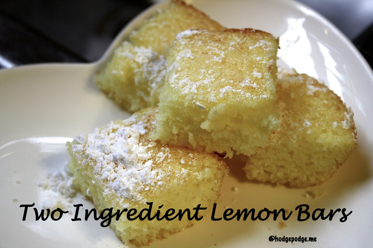 Two ingredient lemon bars recipe for Food bar recipes
